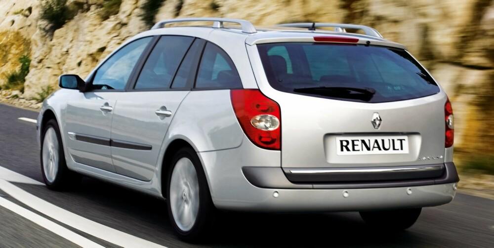 SVAKT: Renault Laguna kommer ikke godt ut av NAFs stoppstatistikk. Foto: Newspress