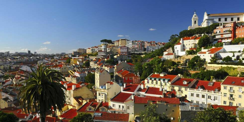 Stunning view on Lisbon city.