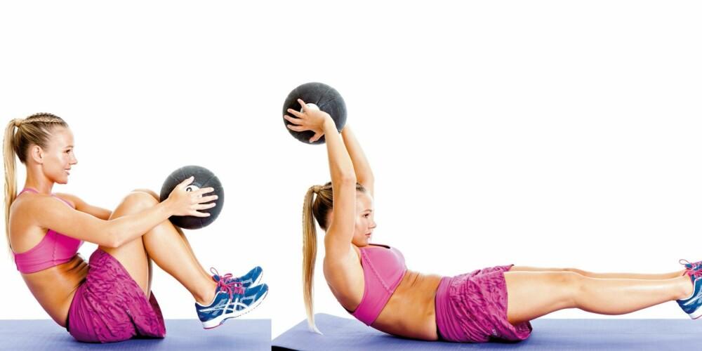 ØVELSE 2: Strekk med ball, posisjon 1 og 2