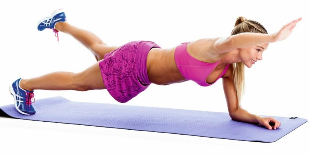 ØVELSE 4: Planke med vipp, posisjon 2