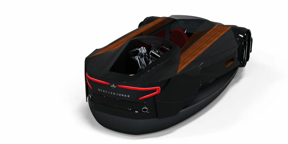 SPORTSBIL: Mercier-Jones-båtene er designmessig inspirert av supersportsbiler. Illustrasjonsfoto: Mercier-Jones