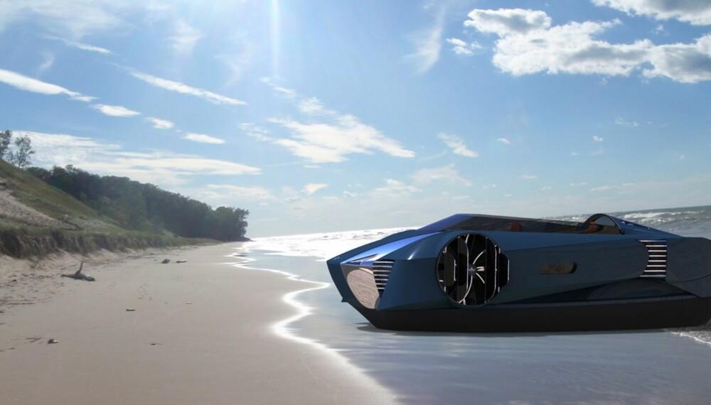 STRANDHUGG: Fortøyning er enkelt med svevebåter. Bare å gli opp, og finne frem solsenga. Illustrasjonsfoto: Mercier-Jones
