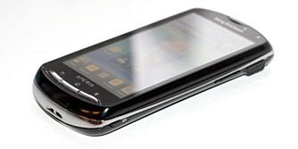 SMARTTELEFON: Når tastaturet er skjult ser Xperia Pro ut som en helt vanlig smarttelefon.