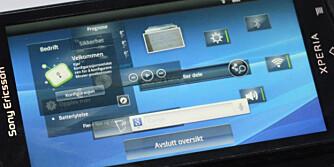 ANDROID-MENYER: Sony Ericssons Android-menyer er enkle å bruke, og har mange lure løsninger.