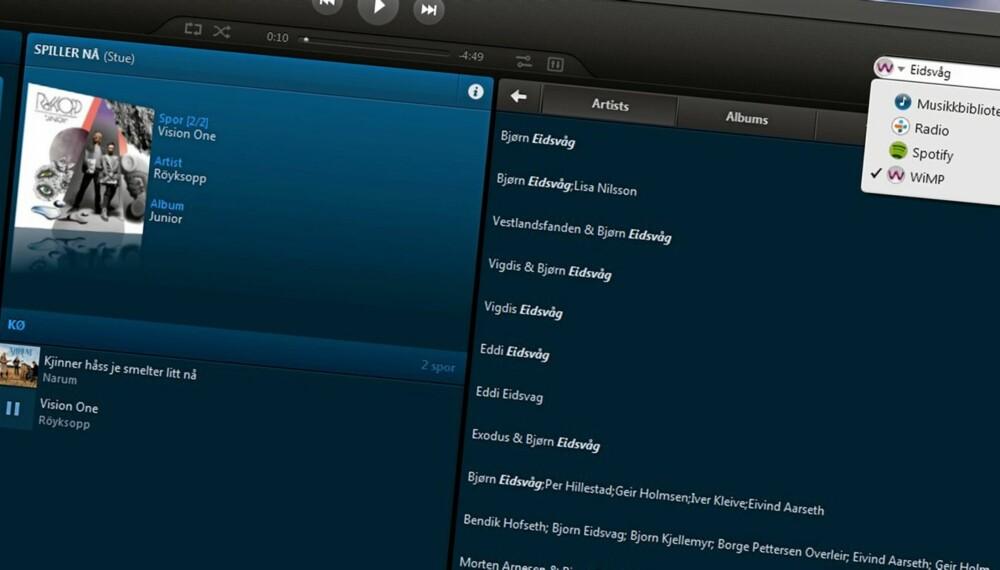SØK: Nye Sonos versjon 3.7 har omsider fått en brukbar søkefunksjon - som fungerer på tvers av kilder.