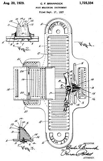 MÅLEINSTRUMENT: Oppfunnet for nesten hundre år siden, men fortsatt i bruk for å finne skostørrelser den dag i dag.