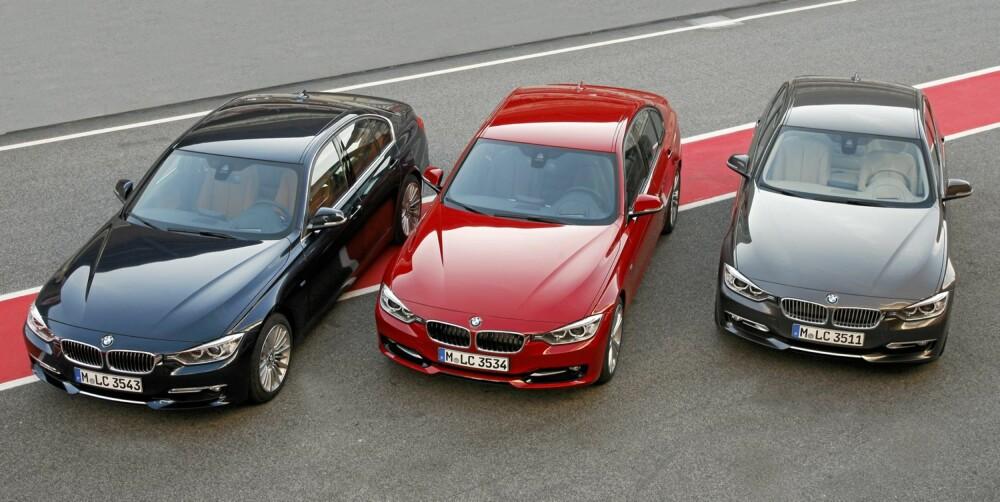VERSJONER: Luxury Line, Sport Line og Modern Line har designforskjeller i fronten. Foto: BMW
