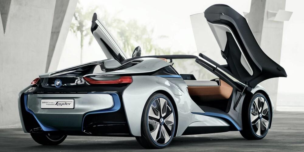 SPESIELLE DØRER: Vi ville ikke ha veddet mye på at konseptbilens dører er med på den endelige versjonen. Men det er lov å håpe. FOTO: BMW