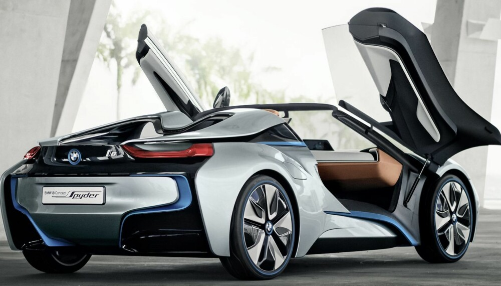 EL-KONSPET: i8-konseptet som BMW har vist frem ved flere anledninger, vil sannsynligvis være basisen for en eventuell superbil fra det tyske merket.