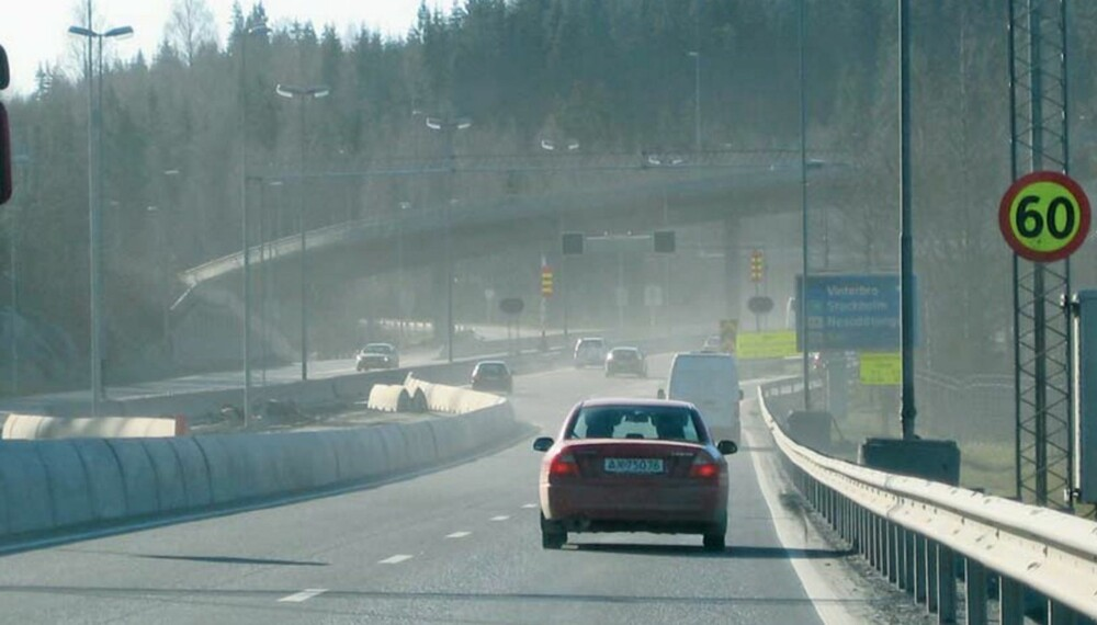 TREGT: Ifølge Opplysningsrådet for Veitrafikken er den gjennomsnittlige kjørehastighet på Norges viktigste veinett på 65,9 km/t. FOTO: OFV