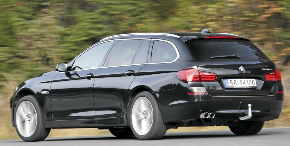 SPORT OG SPARSOMHET: I BMW 5-serie går kjøreglede og lavt forbruk hånd i hånd. FOTO: Egil Nordlien, HM Foto