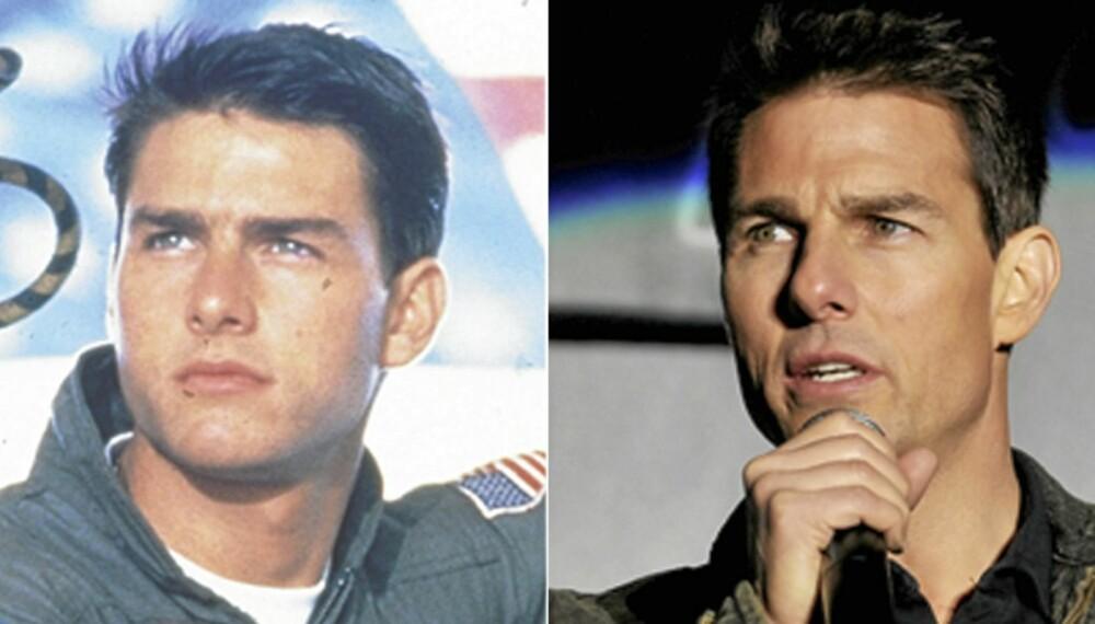 EVIG UNG: Det er 25 år mellom «Top Gun» og «Mission Impossible ¿ Ghost Protocol», men Tom Cruise er like ungdommelig i helterollen.