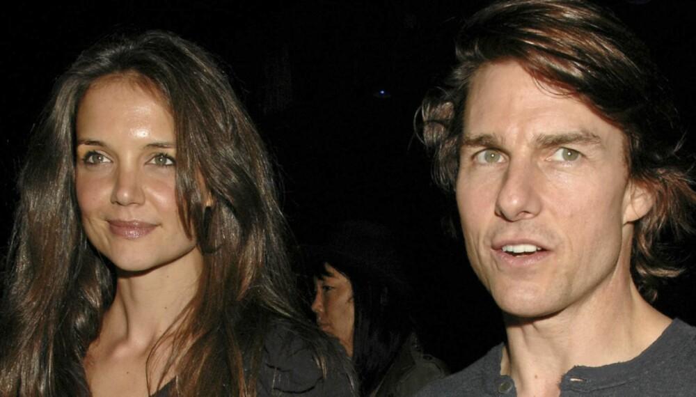 FORTSATT GIFT: Katie Holmes og Tom Cruise holder fortsatt ut med hverandre, selv om forholdet trolig ikke er like hett lenger