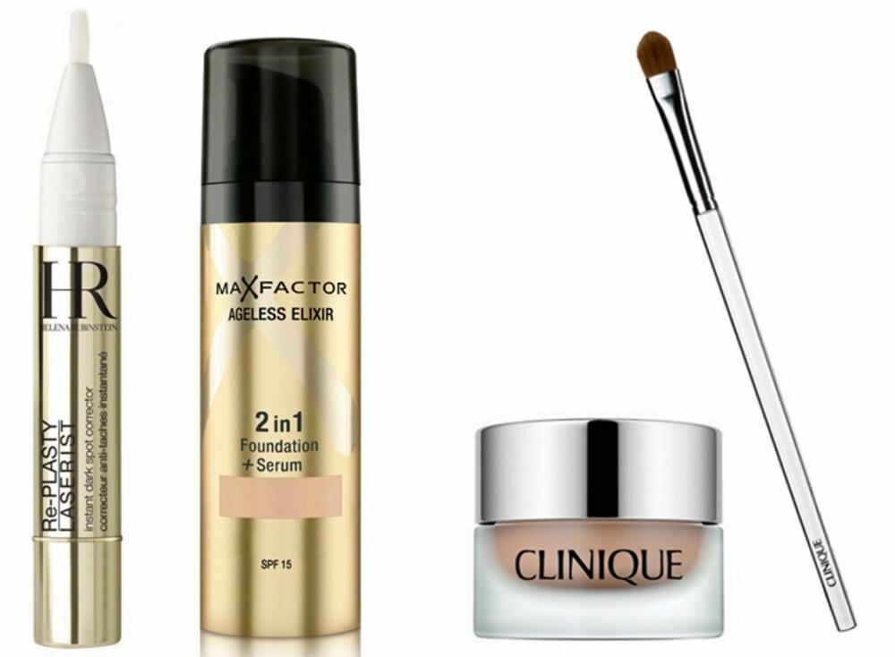 GODE FAVORITTER: Anbefalte produkter som motvirker og skjuler pigmentflekker.