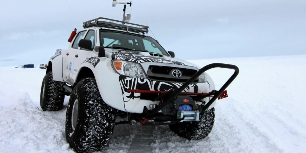 REKORD: I vinter satte Arctic Trucks Hilux rekorder på Antarktis med over 70.000 kilometer i ekstreme vær- og kjøreforhold. Foto: Arctic Trucks