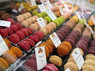 EYECANDY: På Mimosa i Avenue Jean Medecin har de franske makroner for enhver smak.
