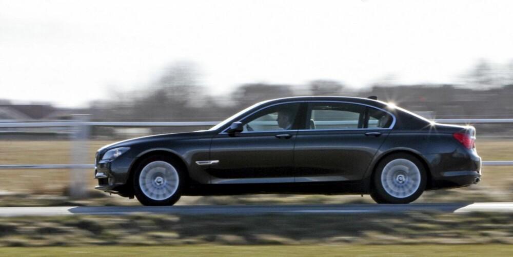 NY M-MODELL?: Ryktene om en M-versjon av 7-serien, her representert ved en 750 Li, har svirret lenge. Nå har BMW registrert navnet M7.