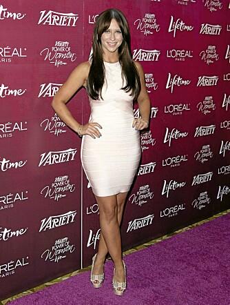 KROPPSFASONG: Med smale skuldre og fyldigere hofter og rumpe, er Jennifer Love Hewitt pæreformet.