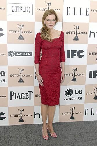KROPPSFASONG: Nicole Kidman er smal og rett uten særlig verken midje, hofter eller byste.