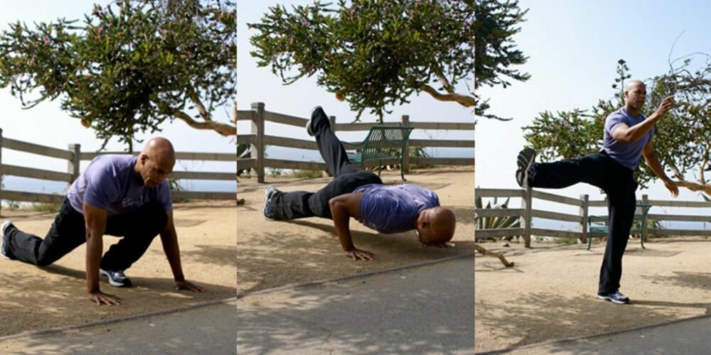 FAVORITTEN: Dette er Franklins favorittøvelse, og du trener både stabilitet og styrke.