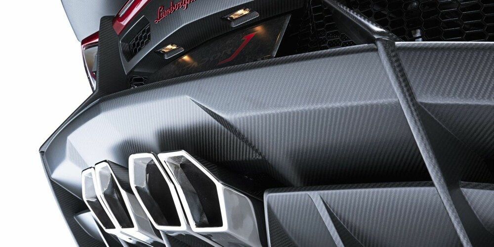 RØR: Karbonfiber er fremdeles materialet Lamborghini foretrekker.