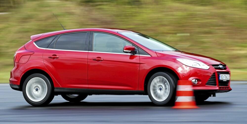 FRISKT DRIV: Den nye 1,0-literen med turbo fungerer veldig fint i Focus, som ikke føles undermotorisert med denne motoren under panseret.