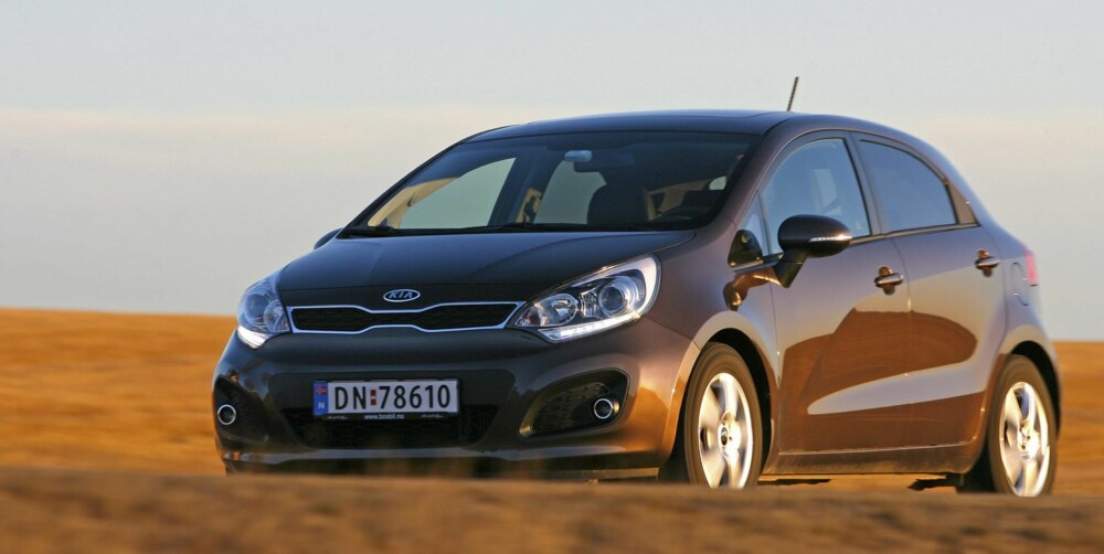 GJERRIG DIESEL: I Eco-versjon slipper Kia Rio ut kun 85 gr CO2 per kilometer, som gjør den til en av de aller gjerrigste bilene på markedet.