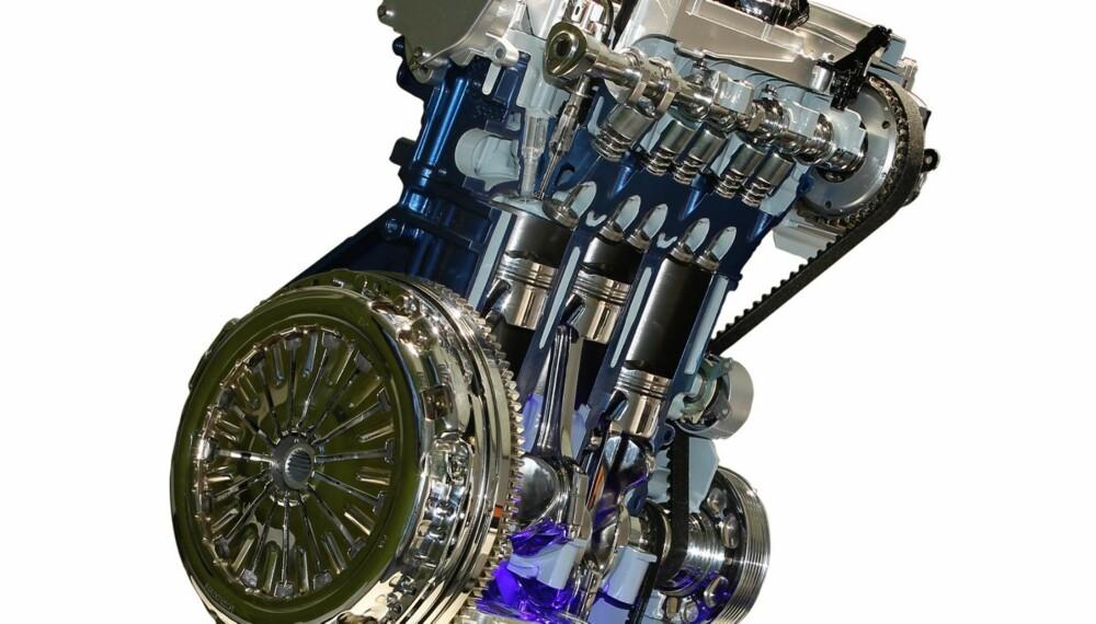 EFFEKTIV: Fords nye Ecoboost-turbomotor er effektiv og gjerrig på forbruket. Slike motorer kommer vi til å se mange av i tiden framover.