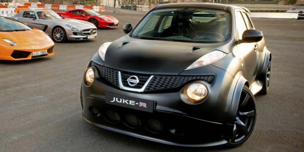 SUPER-SUV: Nissan Juke-R får krefter nok til å kunne hamle opp med fryktinngytende superbiler. FOTO: Nissan