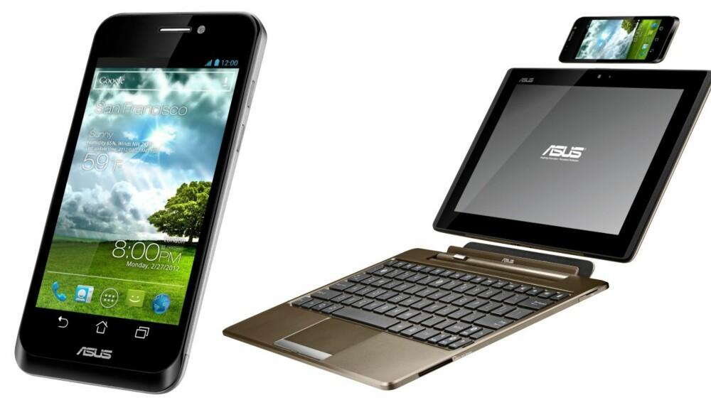 ALT-I-ETT: Nettbrett og laptop i en og samme telefon. Det er mulig med nye PadPhone fra Asus.