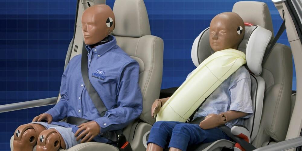 ØKER SIKKERHETEN: Nye Ford Mondeo får oppblåsbare setebelter bak. Foto: Ford