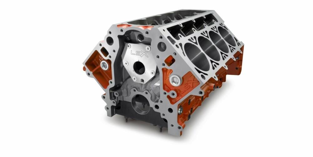 ÅTTESYLINDRET: En V8-motor som denne fra General Motors, har åtte hull til stemplene plassert i en V-form.