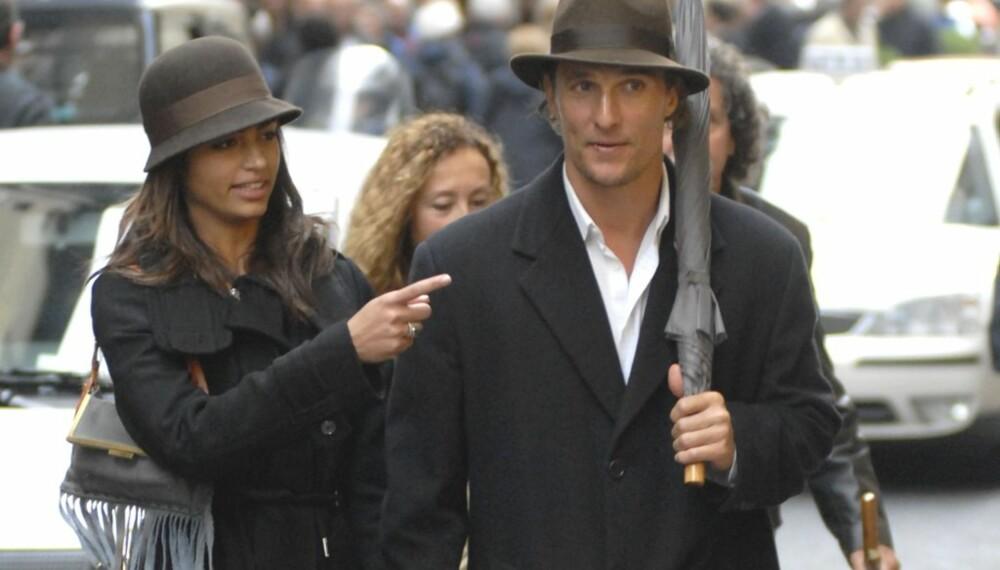 Matthew McConaughey og kjæresten Camilla Alves
