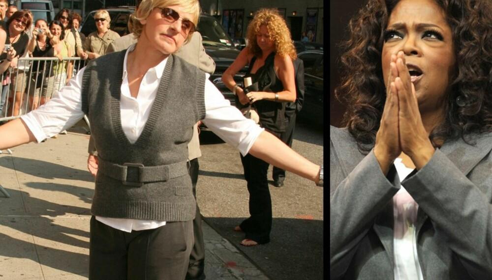 Ellen DeGeneres og Oprah Winfrey