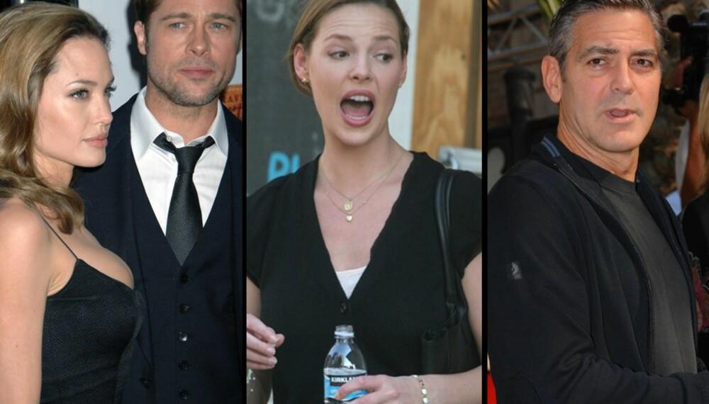 Angelina Jolie og Brad Pitt, Katherine Heigl og George Clooney