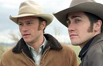 """Heath Ledger og Jake Gyllenhaal i """"Brokeback Mountain"""""""