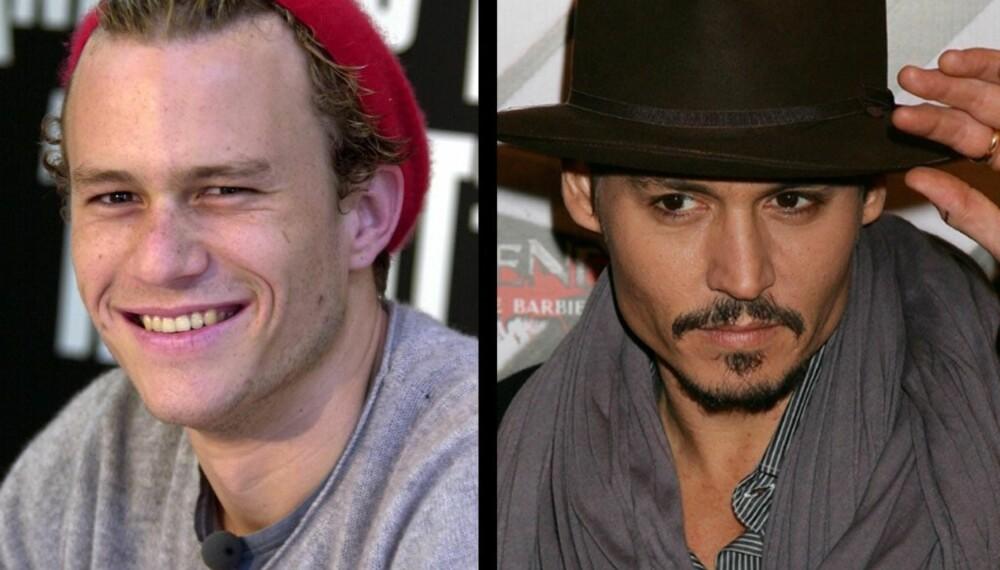 Heath Ledger og Johnny Depp