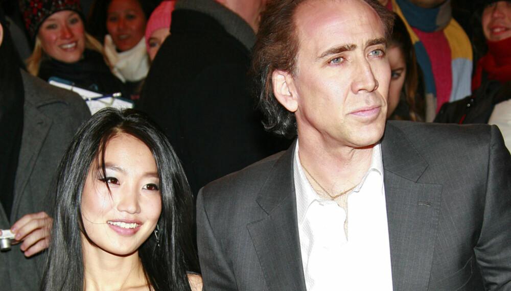 Nicolas Cage og kona Alice Kim.