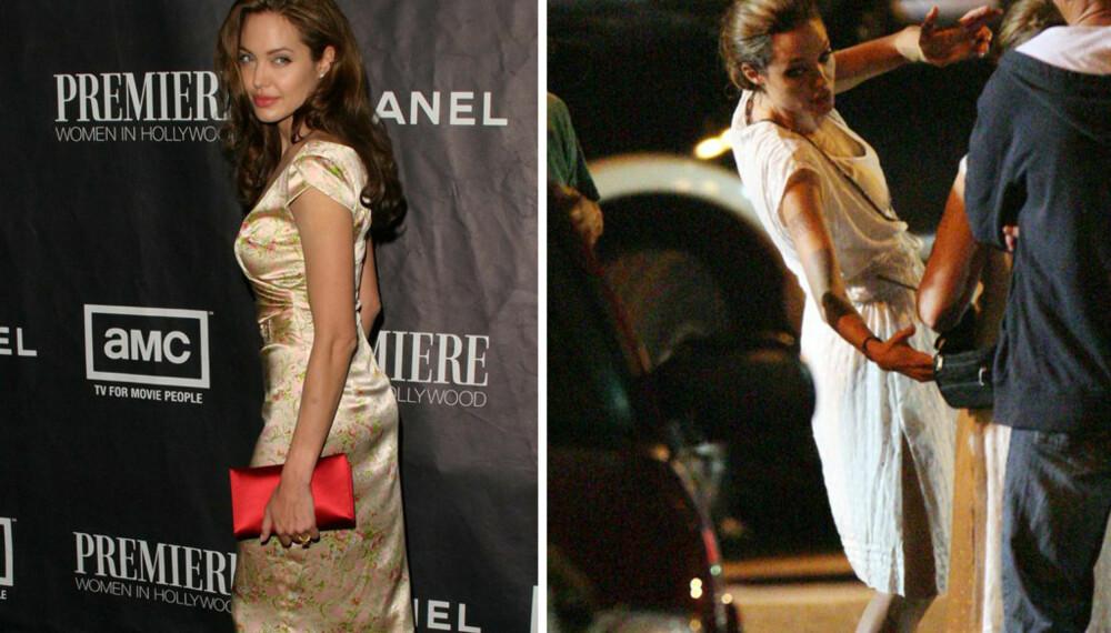 Angelina Jolie, før og nå.