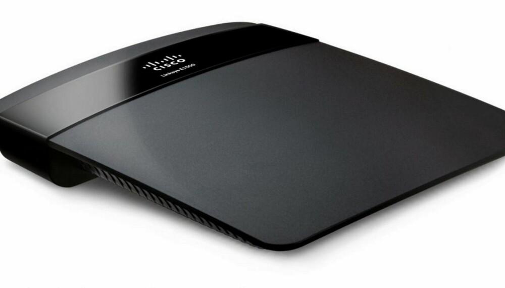BILLIG: Cisco Linksys E1500 er en rimelig trådløs ruter som gjør jobben om du ikke skal ha noen form for ekstrafunksjoner.