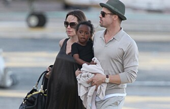 Brad Pitt og Angelina Jolie med datteren Zahara