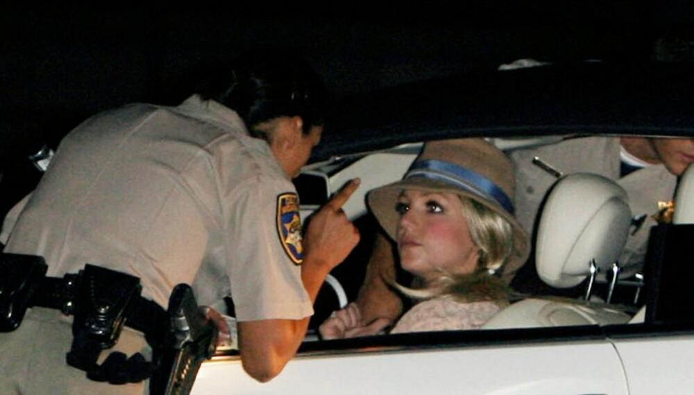 Britney Spears stoppes av politiet