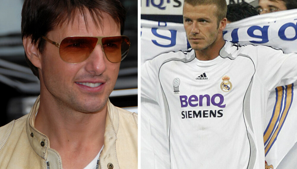 Tom Cruise og David Beckham