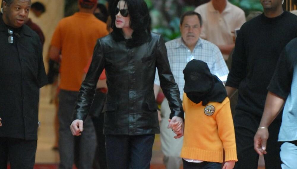 Michael Jackson med datteren Paris