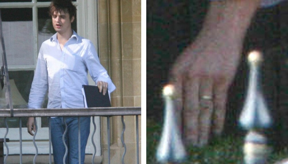 Pete Doherty med gullring på ringefingeren