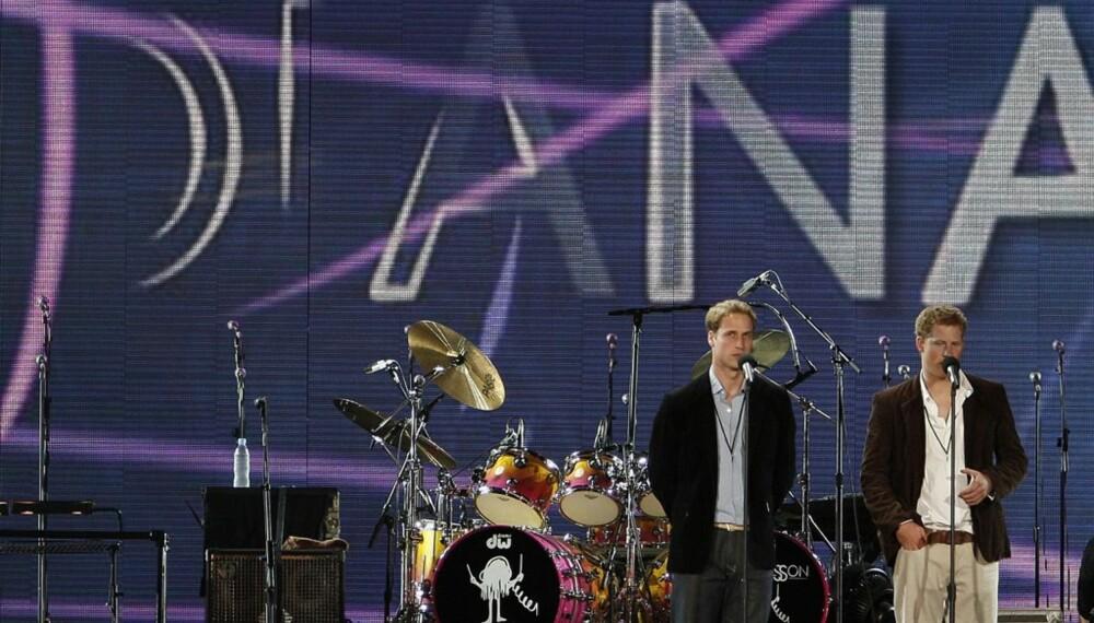 Diana-konsert: William og Harry