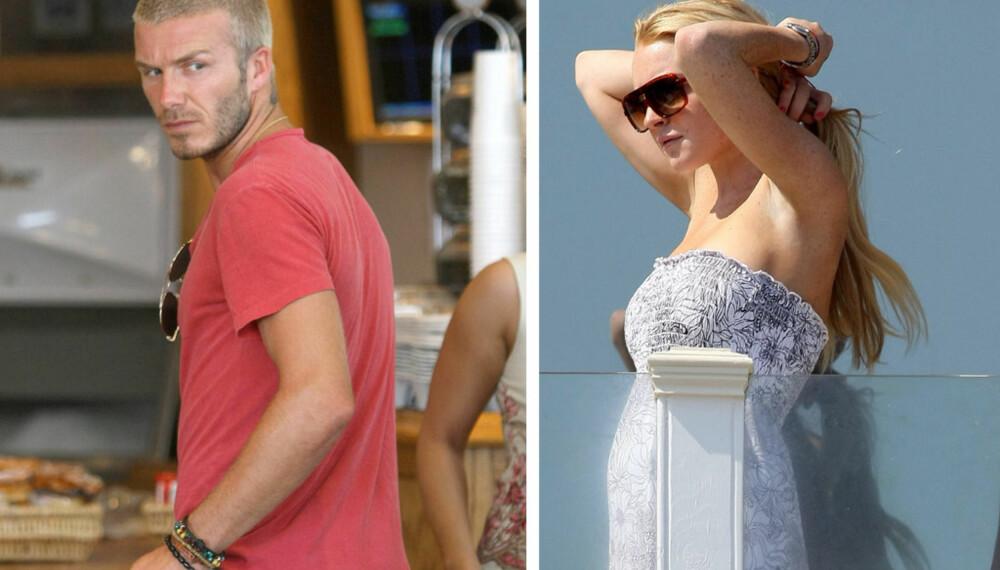 David Beckham og Lindsay Lohan