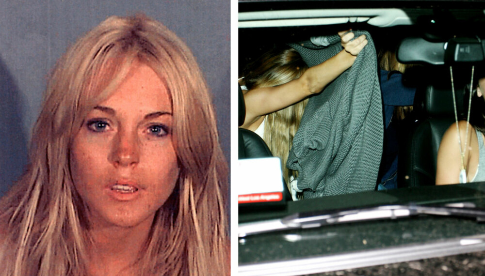 """Lindsay Lohans """"mug shot"""" fra 24. juli."""