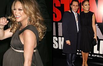 Jennifer Lopez før og etter fødselen