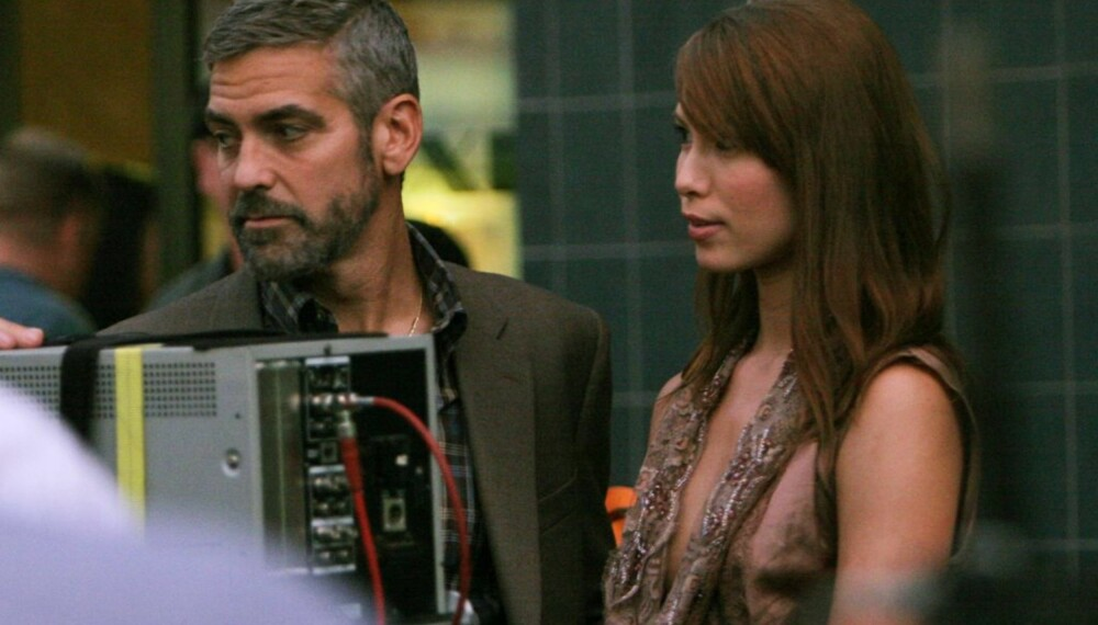 George Clooney og Sarah Larson